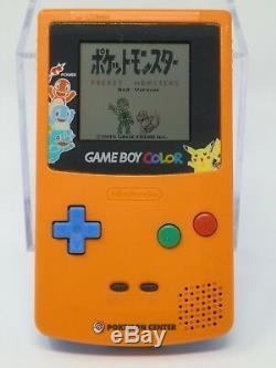 Nintendo Game Boy Color Pokemon Center Version Limitée Orange / Bleu Corps