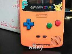Nintendo Game Boy Color Pokemon Centre Limited Edition 3ème Anniversaire D'orange