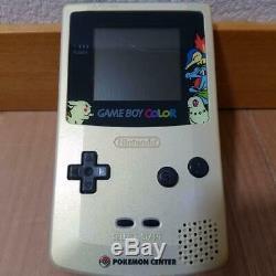 Nintendo Game Boy Color Pokemon Centre Silver Gold Console Memorial Japon Utilisé