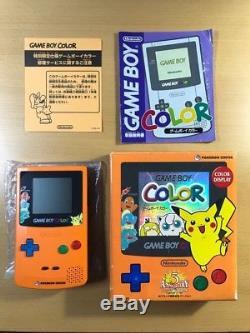 Nintendo Game Boy Color Pokemon Edition 3ème Anniversaire Objet Rare Japon En Boîte
