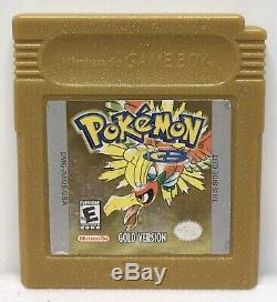 Nintendo Game Boy Color Pokémon Or Seul Jeu Authentique Nouveau Économie De La Batterie