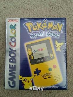 Nintendo Game Boy Color Pokémon Pikachu Jaune Édition Toute Nouvelle Usine Sealed