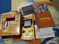 Nintendo Game Boy Color Pokemon System Edition De Poche Jaune Cib. Voir Les Photos
