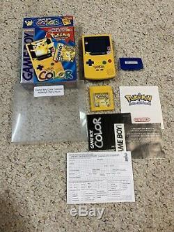 Nintendo Game Boy Color Pokémon (pokémon Pikachu) Version Jaune Withbox