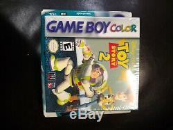 Nintendo Game Boy Color Teal Nouveau Dans La Boîte Scellée (nib) Plus Jeu Toy Story 2 Nouveau