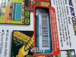 Nintendo Game Boy Color Teal Nouveau Dans Une Boîte Scellée (nib)