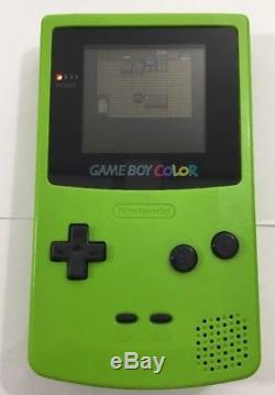 Nintendo Game Boy Couleur Kiwi Lime Green Pokemon Crystal 100% Complet Cib Nrmint