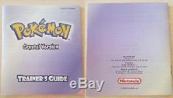 Nintendo Game Boy Couleur Pokemon Crystal Version Complete Box + Manual Cib