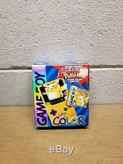 Nintendo Game Boy Couleur Pokemon Pikachu Edition Console Jaune Complète En Boîte