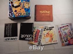 Nintendo Game Boy Couleur Pokemon Pikachu Jaune Système (complet Dans La Boîte) # S531