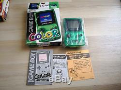 Nintendo Game Boy Couleur Vert Clair Edition Limitée