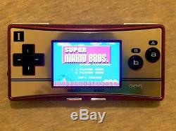 Nintendo Game Boy Micro 20e Anniversaire Famicom Couleur Mario Console Et Logiciels