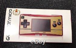 Nintendo Game Boy Micro 20ème Anniversaire Famicom Couleur Mario Console Japon Nouveau