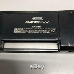 Nintendo Game Boy Micro Console Couleur Noir Japon Importation Testé Utilisé Dhl Travail