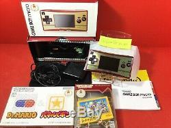 Nintendo Game Boy Micro Famicom Couleur Console 20ème Anniversaire Avec La Boîte Japan 2