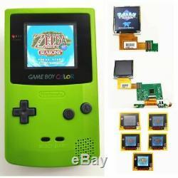 Nintendo Game Boy Système Gbc Couleur Backlight Brighter Mod Kiwi Vert