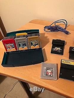 Nintendo Gameboy Color & Advance Lot Gameshark Sp & Pro Pokemon + Plus Très Agréable