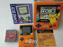 Nintendo Gameboy Color Edition Limitée Pokemon Console Couleur Orange, Boxed-b822