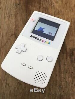 Nintendo Gameboy Color Game Boy Color Handheld Console De Jeu Blanc Backlit