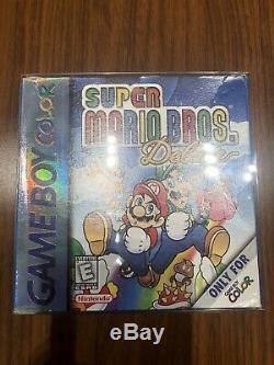 Nintendo Gameboy Color Gbc Retail Kiosk + Console + Super Mario Bros Deluxe Jeu