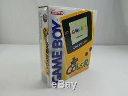 Nintendo Gameboy Color Jaune À Main Avec La Boîte