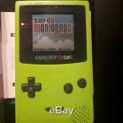 Nintendo Gameboy Color + Jeux Mario, Âne Kong, Jeu Et Montre
