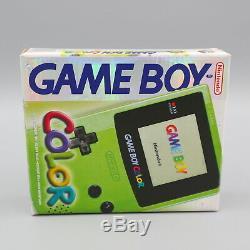 Nintendo Gameboy Color Konsole Grün Neu Nouveau Ovp Mint Unbespielt