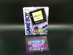 Nintendo Gameboy Color Lila Transparent Top Neuwertig Dans Övp Box # 517 Verpackung