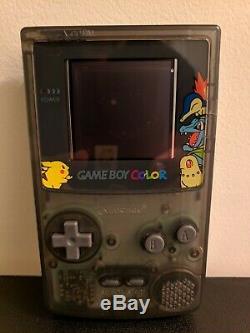 Nintendo Gameboy Color Lumière Gbc Cgb-001 Modded Avec Écran LCD Rétro-éclairé Et Plus