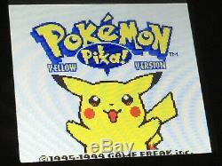 Nintendo Gameboy Color Lumière Pokemon Rétro-éclairage Et Personnalisé En Verre Écran