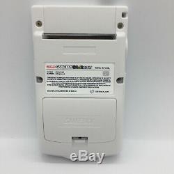 Nintendo Gameboy Color Lumière Tous White Edition Rétro-éclairage Et Personnalisé En Verre Écran