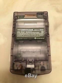Nintendo Gameboy Color Mod Clair Violet Backlit Gbc Lentille En Verre Lire Desc