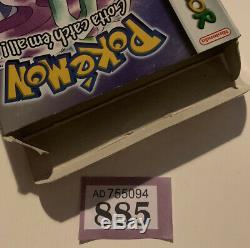 Nintendo Gameboy Color Pokemon Catch Must Em All Cristal Version