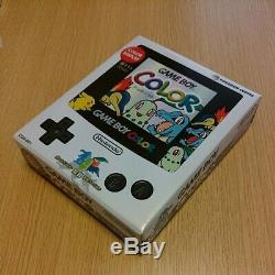 Nintendo Gameboy Color Pokemon Center Console Limitée Or Argent Utilisé