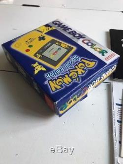 Nintendo Gameboy Color Pokemon Édition Spéciale Complète En Boîte