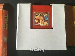 Nintendo Gameboy Color Pokemon Version Rouge Jeu Insert Boîte Manuelle Pal Testée