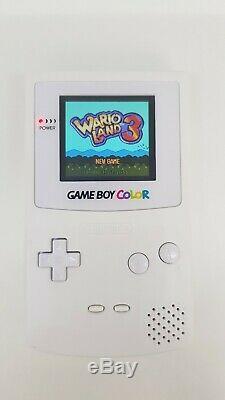 Nintendo Gameboy Color Rétro-éclairage Blanc Verre Écran Objectif