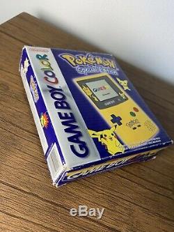 Nintendo Gameboy Color (couleur) Pokemon Pikachu Special Edition Box Boxed