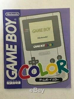 Nintendo Gameboy Console Couleur Pokemon Center 3 Anniversary Edition Cgb-001