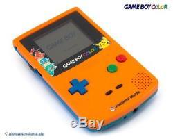 Nintendo Gameboy Couleur Konsole #orange Et Blue Pokemon Center Edition