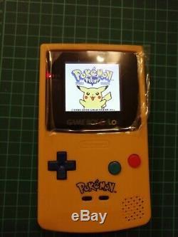 Nintendo Gameboy Couleur Pikachu Pokemon Rétroéclairés Les Ags Écran 101 Fournis Par R & R