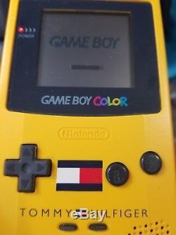 Nintendo Gameboy Couleur Tommy Hilfiger Édition Spéciale Jaune Avec Boîte