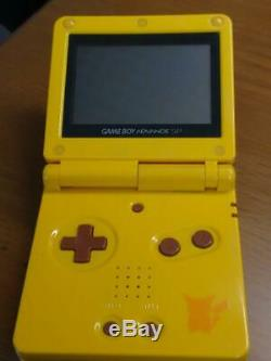 Nintendo Gameboy Édition Pokemon Advanced Pikachu Handheld Jaune Couleur Sp Rare