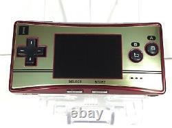Nintendo Gameboy Game Boy Micro Famicom Couleur Nes Console 20ème Anniversaire 3 Box