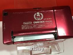 Nintendo Gameboy Game Boy Micro Famicom Couleur Nes Console 20ème Anniversaire Box 5