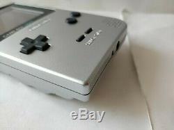 Nintendo Gameboy Lumière Console Couleur Argent Mgb-101 Et Set De Jeu / Testé-c0407