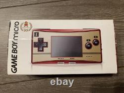 Nintendo Gameboy Micro 20th Anniversary Edition Famicom Color Used Testé En Boîte