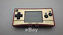 Nintendo Gameboy Micro Famicom Couleur Console 20e Anniversaire Super Mario Utilisé