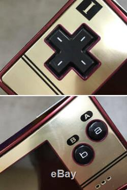 Nintendo Gameboy Micro Famicom Couleur Console 20e Anniversaire Travail Ok