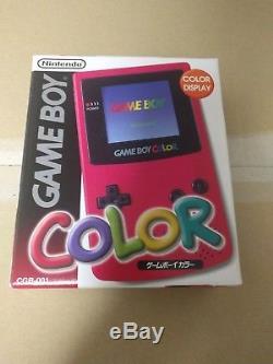 Nouveau Console Console Gameboy Color Red Japon Same Prix Tel Que Vendu Vente De Liquidation